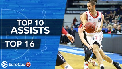 7DAYS EuroCup, Top 10 Assists of the Top 16