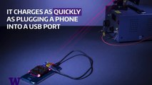 Este sistema permite la carga inalámbrica del móvil con un láser