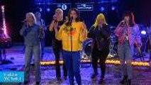 Dua Lipa Performs 'IDGAF' With Charli XCX, Zara Larsson, MØ & Alma | Billboard News