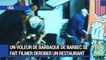 VOLEUR EN SERIE: Un voleur de barbaque de barbec se fait filmer dérober un resto