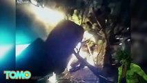 HÉROÏSME : Deux policiers tirent un homme d'une voiture en feu et lui sauvent la vie