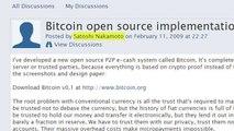Satoshi Nakamoto l'inventeur du Bitcoin n'est pas l'inventeur en fait... ou peut être
