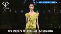 New York Fashion Week Fall/Winter 18 19 - Art Hearts Fashion - Datari Austin | FashionTV | FTV