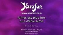 Karaoké Aimer est plus fort que d'être aimé (Live) - Christine And The Queens *