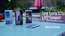 Sony Xperia XZ2 y XZ2 Compact, toma de contacto