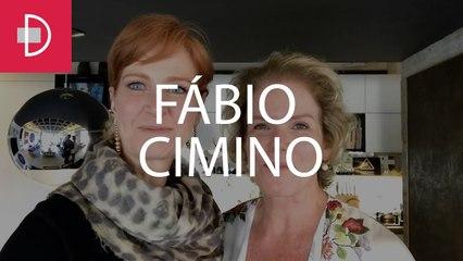 Zize Zink e Graça Salles visitam o galerista Fábio Cimino