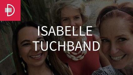 Zize Zink e Graça Salles visitam a artista plástica Isabelle Tuchband