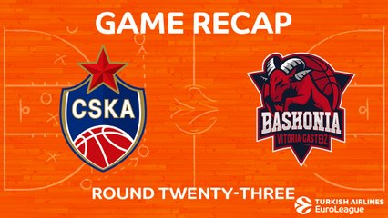 EuroLeague 2017-18 Highlights Regular Season Round 23 video: CSKA 93-86 Baskonia