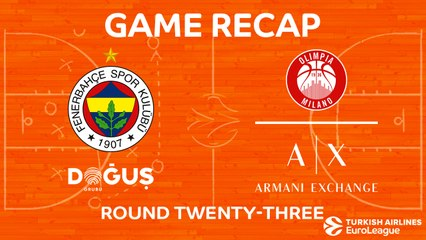 EuroLeague 2017-18 Highlights Regular Season Round 23 video: Fenerbahce 89-70 AX Milan
