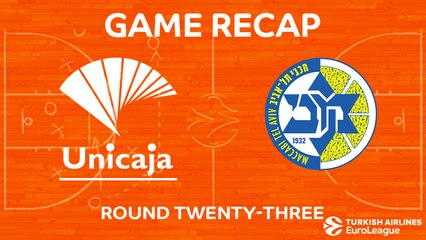 EuroLeague 2017-18 Highlights Regular Season Round 23 video: Unicaja 83-69 Maccabi
