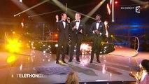 """Sophie Davant et Garou chantent """"For me formidable"""" au téléthon 2015 - 05/12/2015"""