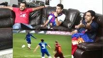 """ردة فعل برشلونين على ذهاب """" برشلونة ضد تشيلسي """" - انقطعت رجلي من الحماس في هدف ميسي  !!!"""