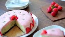 Cheesecake au basilic et sa mousse à la fraise