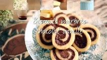 Biscuits marbrés chocolat vanille