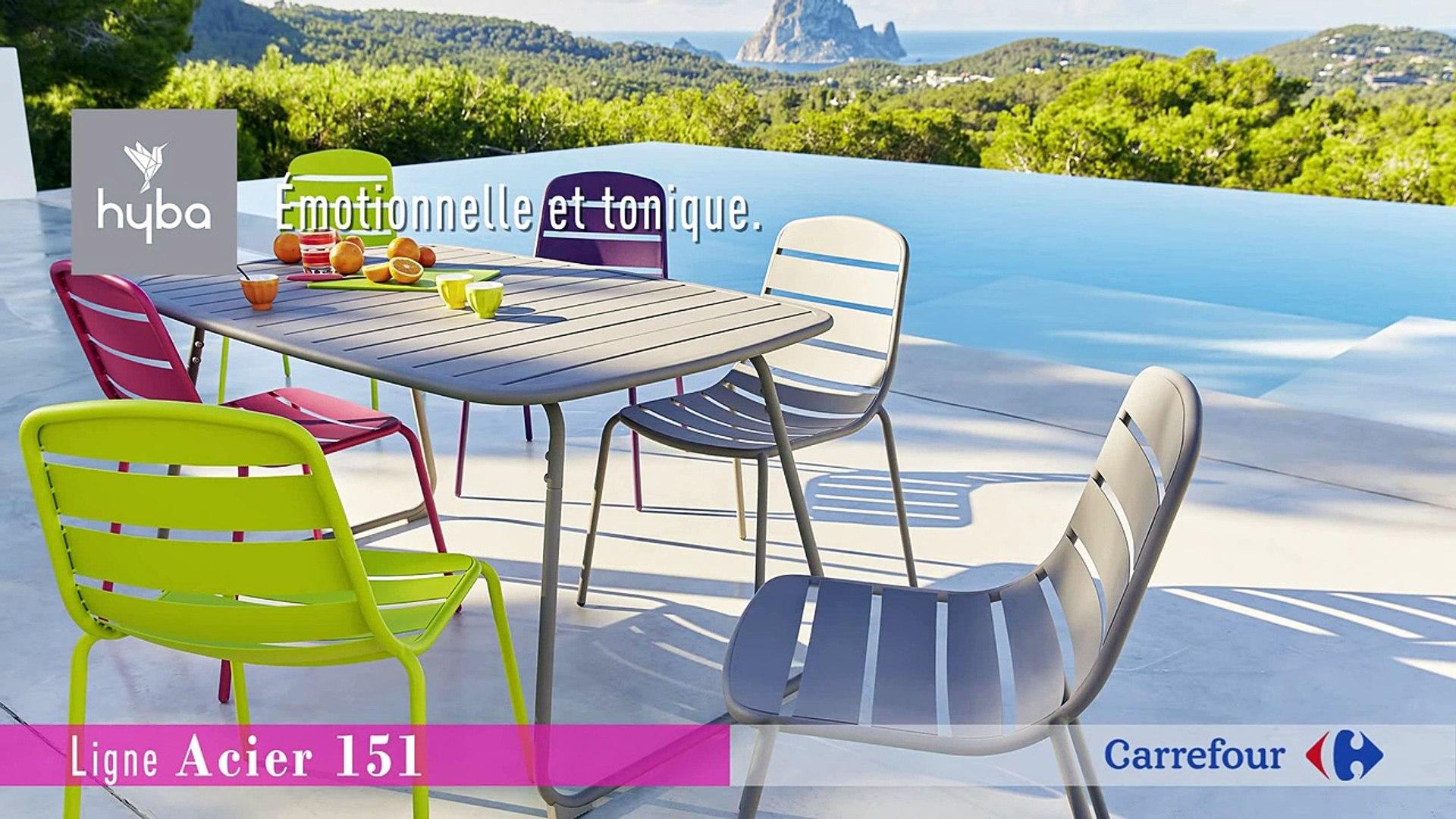Collection Mobilier de Jardin 6 Hyba chez Carrefour : La ligne
