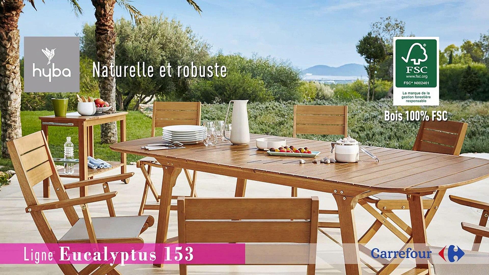 Collection Mobilier de Jardin 2016 Hyba chez Carrefour : La ligne Eucalyptus