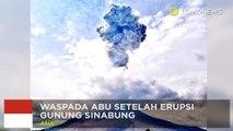 Erupsi gunung Sinabung: penerbangan kacau setelah erupsi gunung Sinabung - TomoNews