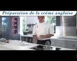 Recette Carrefour : Brioche perdue aux pralines roses et crème anglaise au thé vert