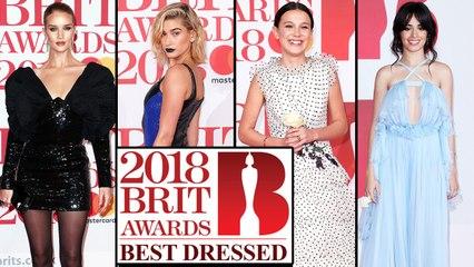 BRIT Awards 2018 BEST DRESSED : Hailey Baldwin, Millie Bobby Brown, Camila Cabello