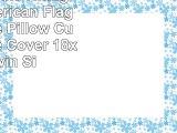 InterestPrint Vintage USA American Flag Pillowcase Pillow Cushion Case Cover 18x18 Twin