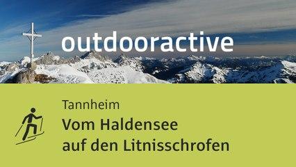 Skitour im Tannheimer Tal: Vom Haldensee auf den Litnisschrofen