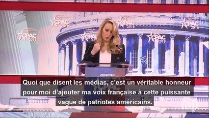 Marion Maréchal-Le Pen au CPAC 2018 (avec sous-titres)