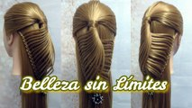 Peinado Facil de Hacer para Cabello Largo-Medio Largo-Quinceaneras-Primera Comunion