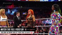 NIKKI BELLA MAKES HER SURPRISE RETURN - SUMMERSLAM 2016 - WWE Diva Wrestling Sports Fight Fighting Female Women Women's Wrestling