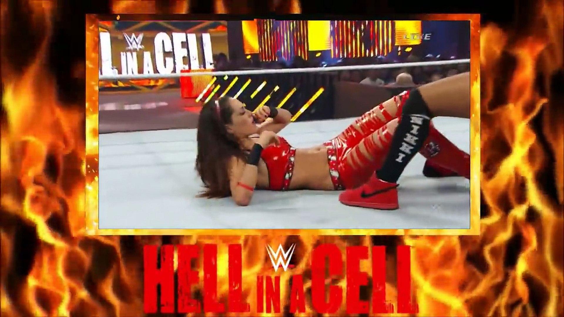 NIKKI BELLA VS BRIE BELLA - HELL IN A CELL MATCH (2014) - WWE Wrestling Diva Sports Female Women Wom