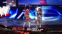 THE BELLA TWINS VS KELLY KELLY AND EVE TORRES - WWE RAW 2011 - WWE Diva Wrestling Sports Fight Fighting MMA