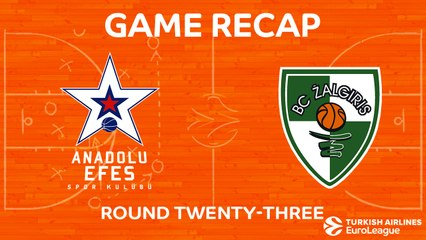EuroLeague 2017-18 Highlights Regular Season Round 23 video: Efes 70-86 Zalgiris