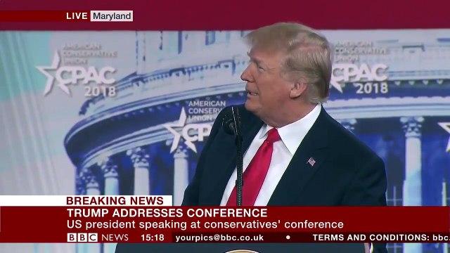 Trump kelini nasıl gizlediğini böyle gösterdi
