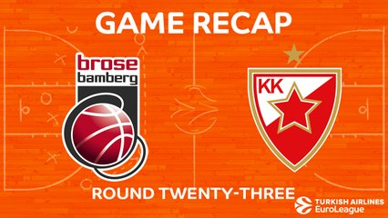 EuroLeague 2017-18 Highlights Regular Season Round 23 video: Bamberg 86-62 Zvezda