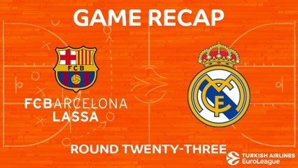 EuroLeague 2017-18 Highlights Regular Season Round 23 video: Barcelona 74-101 Madrid