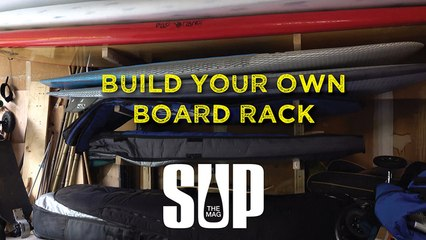 Build your own board rack.
