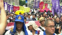 Protests in Hong Kong after Chinese president's warning