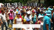 Venezuelans protest over food shortages and inflation