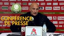 Conférence de presse AC Ajaccio - FC Sochaux-Montbéliard (3-2) : Olivier PANTALONI (ACA) - Peter ZEIDLER (FCSM) - 2017/2018