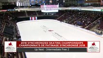 Intermédiaire – Libre #2 : Championnats de patinage synchronisé 2018 de Patinage Canada (7)
