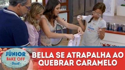 BELLA SE ATRAPALHA AO QUEBRAR CARAMELO