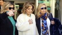 Las lagrimas de María Teresa Campos saliendo del hospital con Terelu y Carmen Borrego