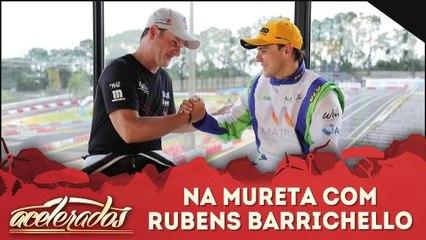 Na mureta com Rubens Barrichello