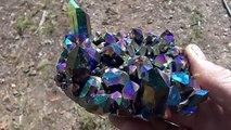 Il découvre un magnifique crystal de Quartz dans l'Arkansas - Titanium Arkansas Quartz Crystal Cluster
