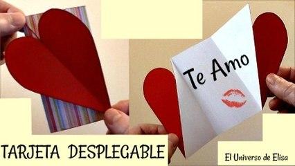 Tarjeta para San Valentín, Tarjeta  Desplegable, Regalos para San Valentín