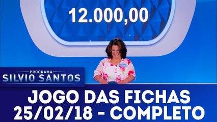 Jogo das Fichas - Programa Silvio Santos - 25.02.18