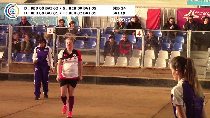 Quatrième tour, Club Elite Féminin, demi-finale aller, Bourg-en-Bresse contre Bièvre Isère,, saison 2017-2018