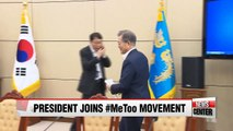 President Moon Jae-in joins growing MeToo movement in South Korea