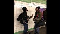 Reprise des Beatles dans le métro