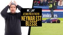 Je sais pas si t'as vu... Neymar est blessé #JSPSTV