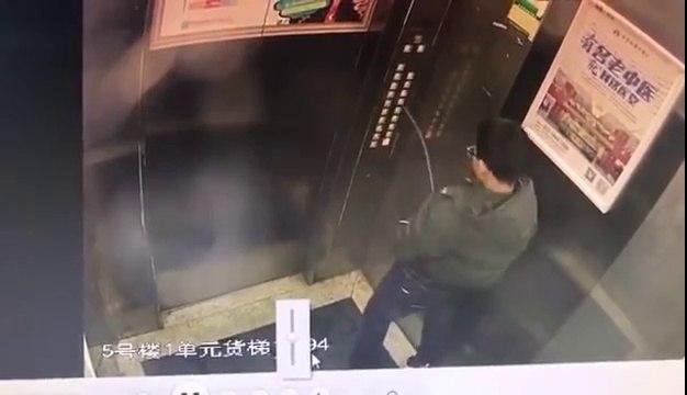 Ce gamin débile va regretter son geste dans l'ascenseur... Bien fait!!!